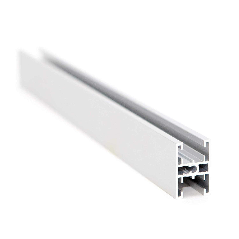 Hibitaro F/üllungsteilendes Querprofil in 1300 mm f/ür 10 mm F/üllung 2 St/ück F/ür Schiebet/üren mit unterschiedlichen F/üllungen geeignet