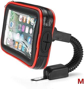 Sostenedor del teléfono móvil ayuda del soporte de la bicicleta for el teléfono celular Smartphone bici del bolso del sostenedor de la caja del GPS SKYJIE (Color : Red M): Amazon.es: Bricolaje