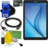 """Samsung Galaxy Tab E 9.6"""" 16GB Wi-Fi Tablet (Black) SM-T560NZKUXAR + 32GB MicroSD High Capacity Memory Card + USB Cable + 5pc Deluxe Cleaning Kit + HeroFiber Ultra Gentle Cleaning Cloth"""