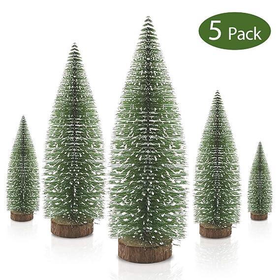 Mini árboles Navidad Nieve Miniatura Árbol pino escarcha Árboles plástico invierno Adornos nieve invierno Árboles mesa para la decoración habitación ...