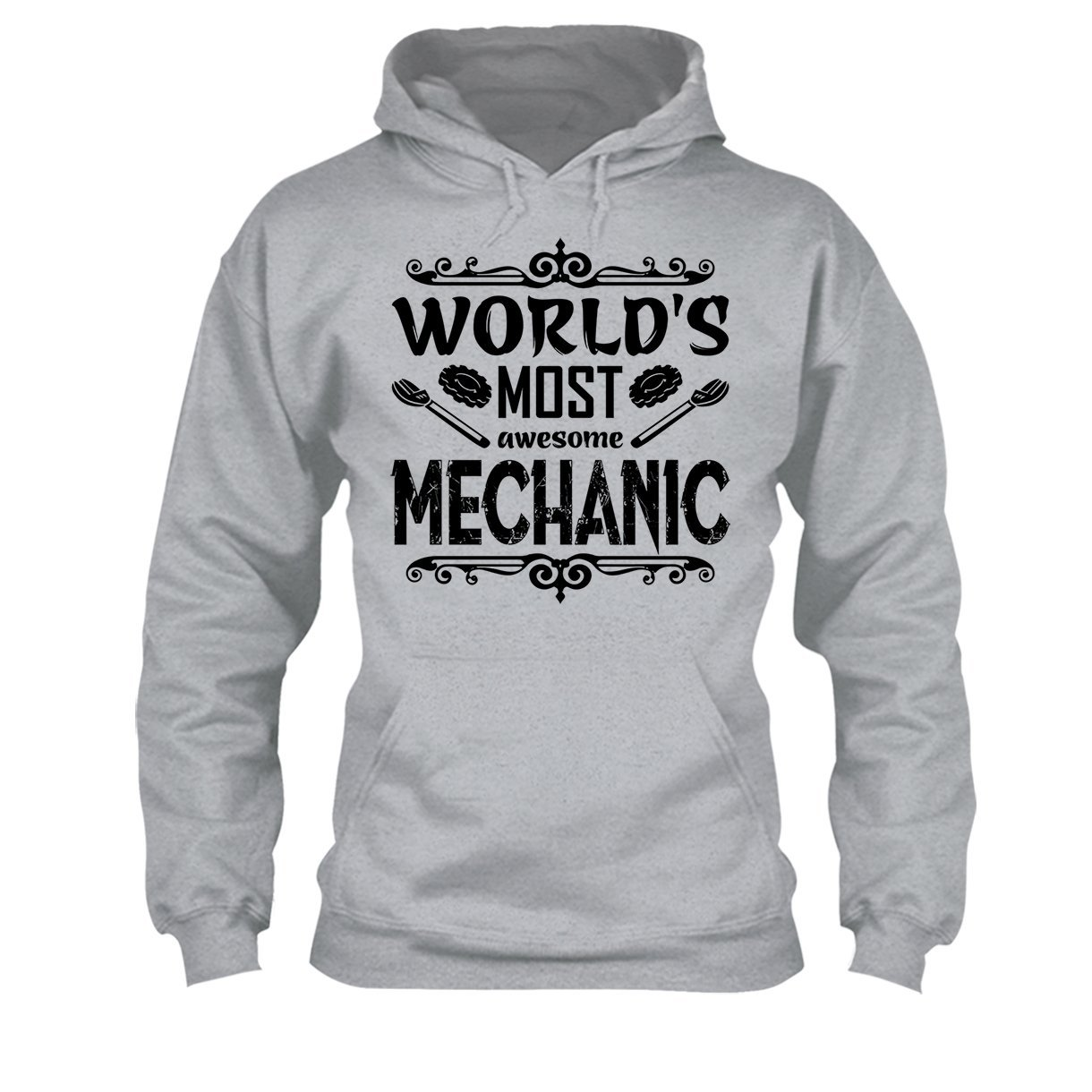 Tee Shirt Clothing Big Grey Worlds Most Awesome Mechanic Shirt