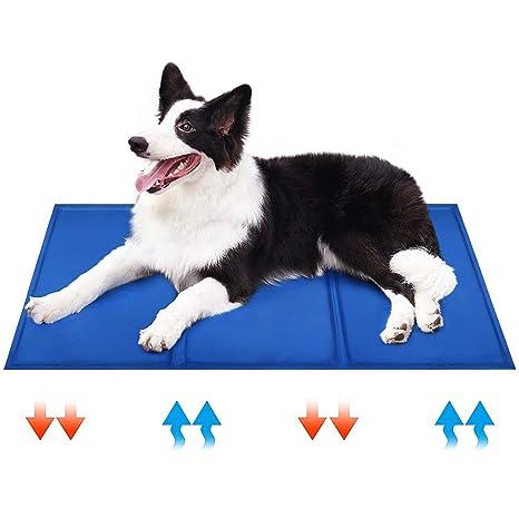 DQMEN Alfombrilla de refrigeración Manta Enfriador para Perros y Gatos. Reduce la sensación térmica Corporal (L 50x90cm)
