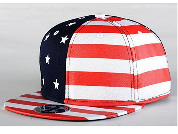 S Forever USA Flag Star Hat Men Outdoor Camp Caps Baseball Snapback Hats  (Red) add0fb650fc