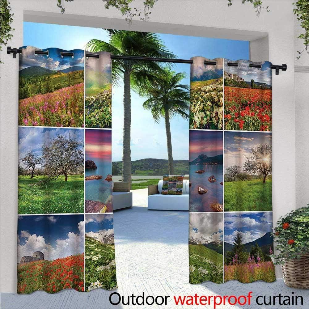 BlountDecor - Cortinas de balcón de verano con 9 diferentes marcos ...