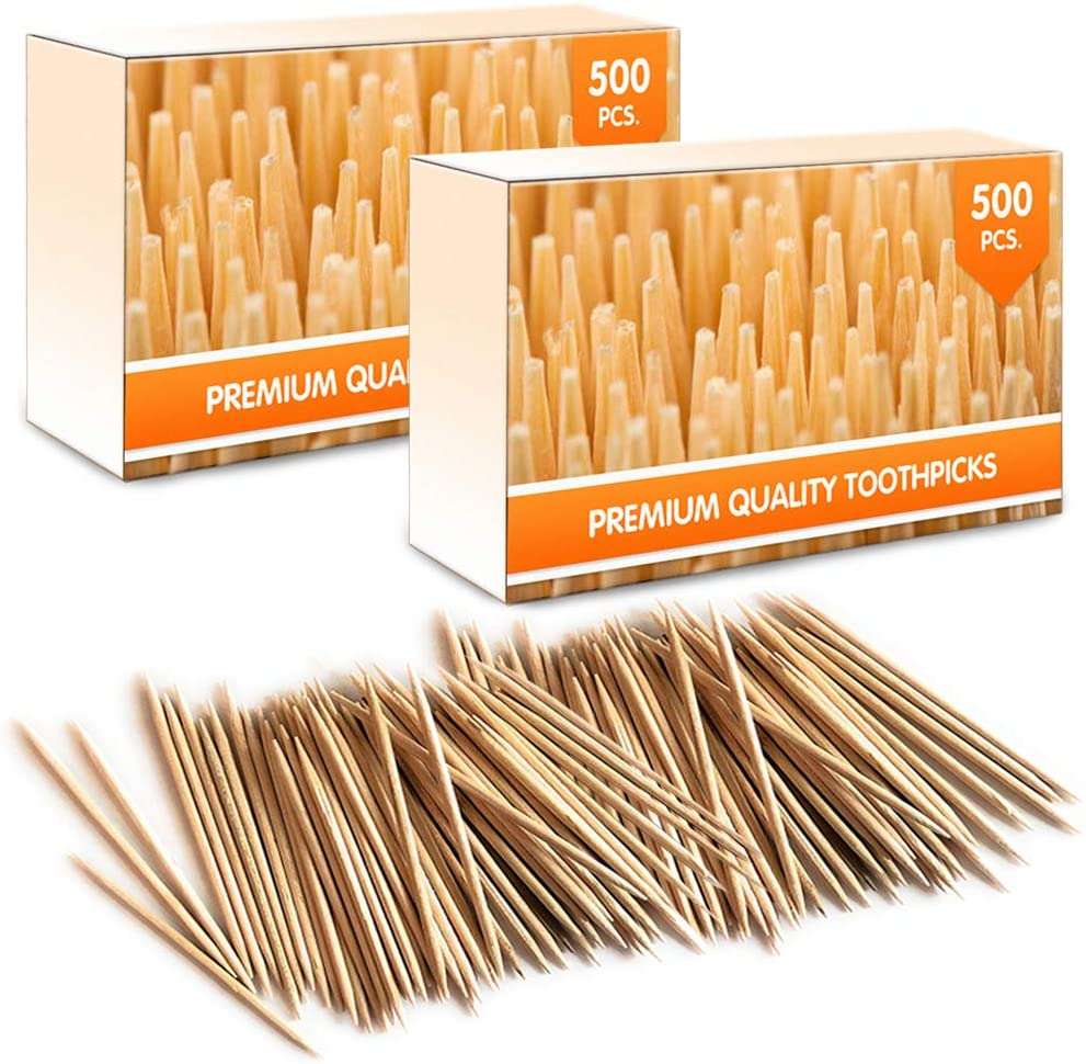 Mobi Lock Palillos de Madera de bambú Extra higiene, brochetas o Manualidades   1000 Piezas