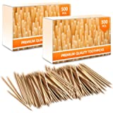 Premium Bamboo Wooden Cocktail Toothpicks - Personal Hygiene, Disposable Appetizer Skewers, Cocktail Sticks or Arts…