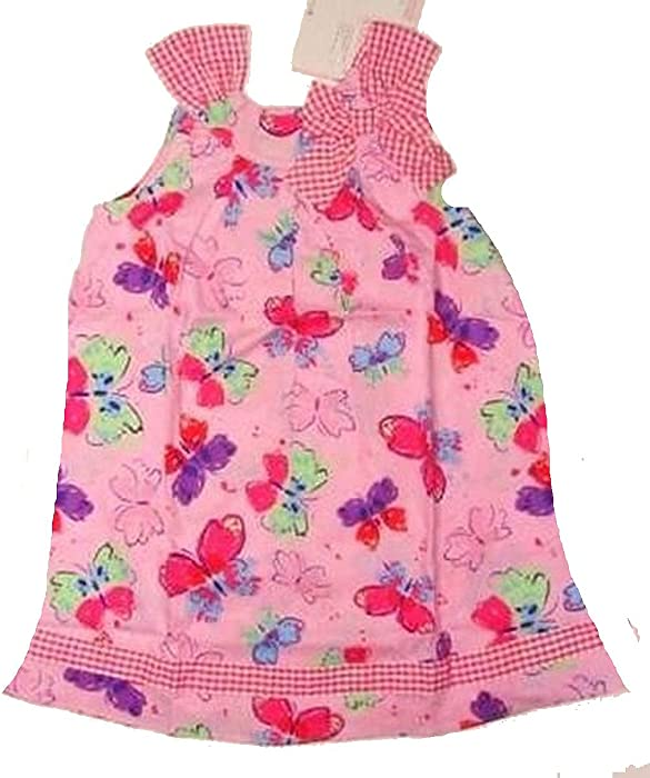 b1283a2c22b Amazon.com  YOUNGLAND Girl s Size 4 Pink Butterfly Gingham Sundress ...