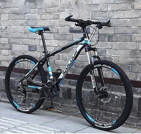 QZ For MTB Edad, Estructura de suspensión de Aluminio Ligero Completo, Suspensión Tenedor, Freno de Disco de Bicicletas de montaña Rígidas: Amazon.es: Deportes y aire libre