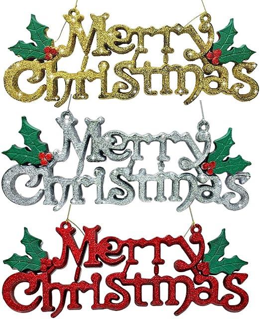 Amazon.com: BANBERRY DESIGNS Merry Christmas Sign - Juego de ...