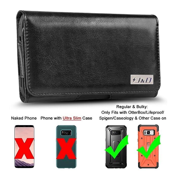 2 opinioni per Galaxy S8 Fondina, J&D PU Pelle Fondina Custodia Perforata con il Clip di