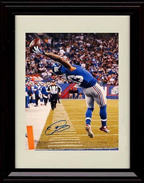 c51968a5e3f Image Unavailable. Image not available for. Color  Framed Odell Beckham Jr  Autograph Replica Print The Catch ...