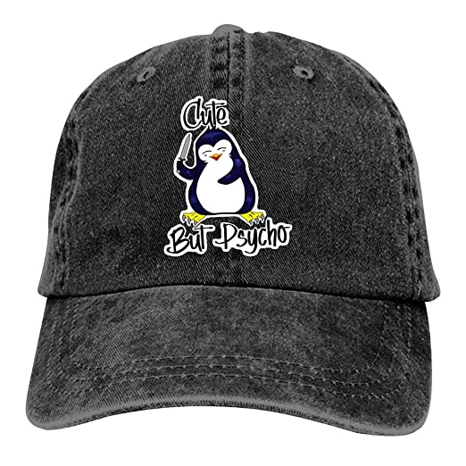 6285558a2b267 666YES Penguin Cute But Psycho Camping Unisex Adult Adjustable Trucker Dad  Hats Adult Cowboy Hat Casquette