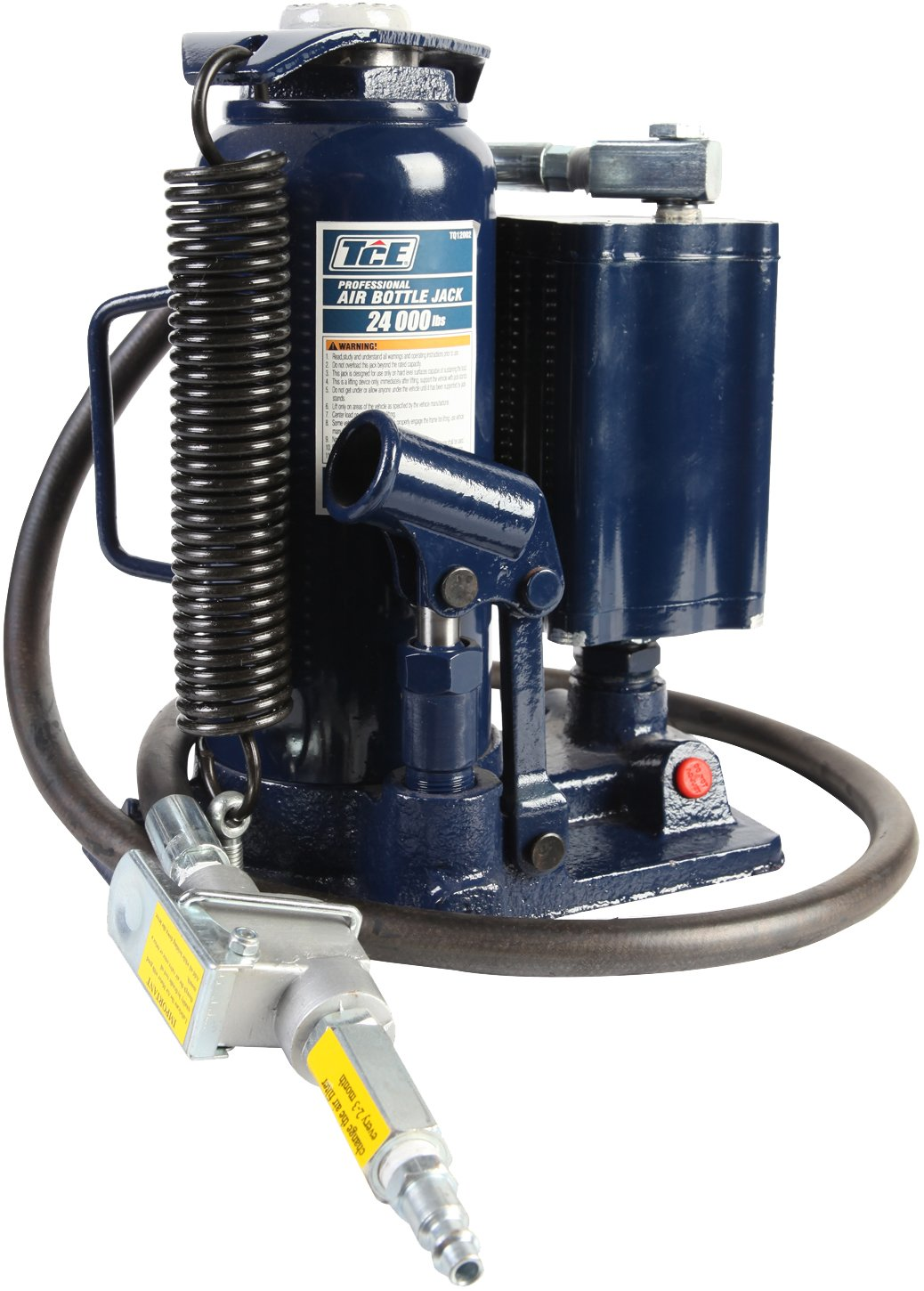 TCE Professional Grade Air Hydraulic Bottle Jack, 12 Ton Capacity