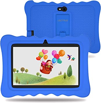 Pink 7 inch Android 9.0 Google Certified Tablet Educational Tablets for Kids Kids Tablet 32 GB IPS Safety Eye Protection Screen - with Shockproof Case Learning App WiFi Dual Camera