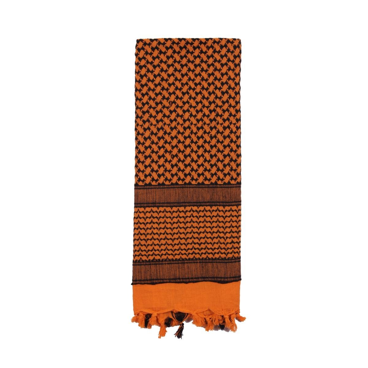 Rothco Shemagh Tactical Desert Scarf, Orange/Black