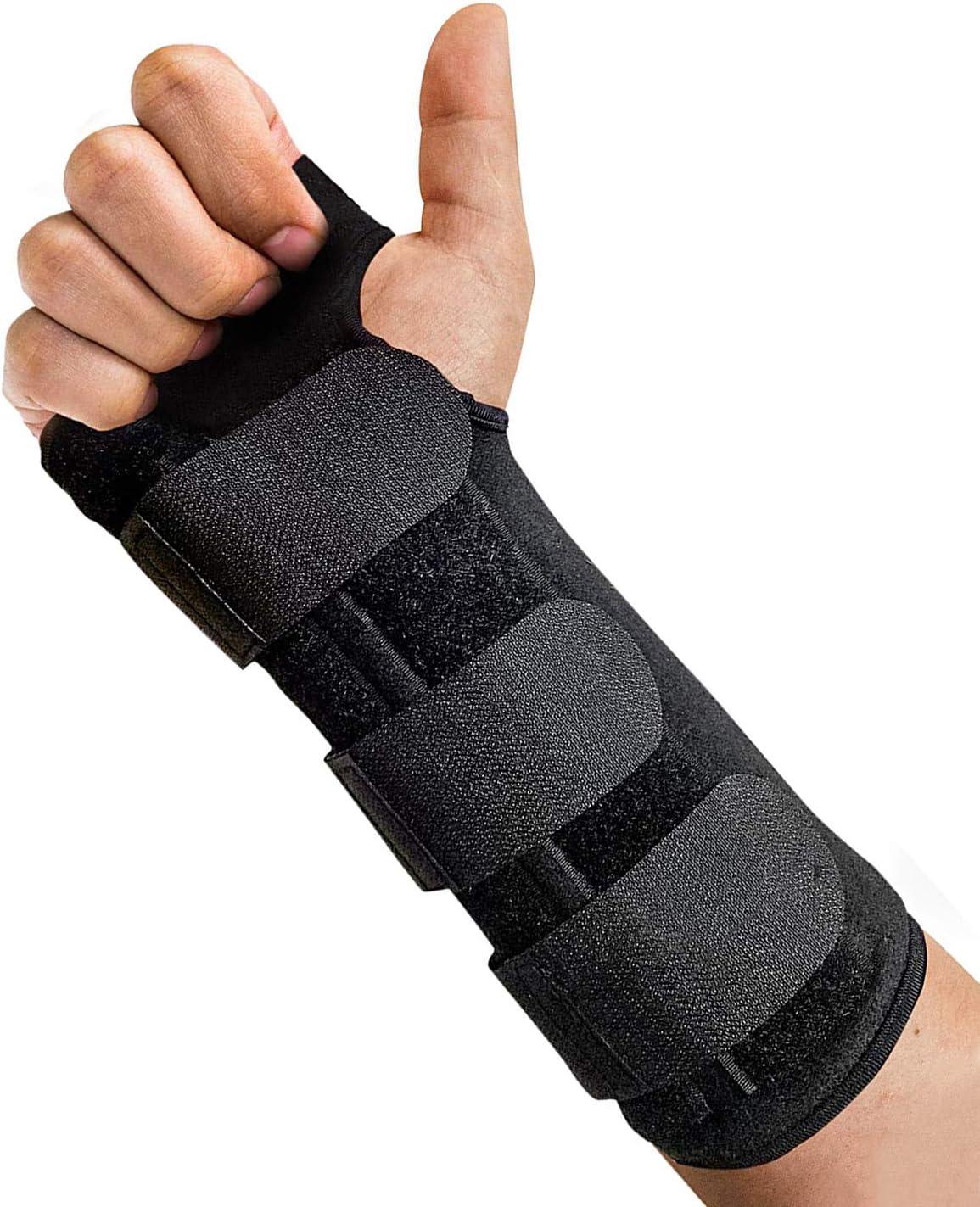 LoveSelfy Órtesis Muñequera Transpirable, Férula Soporte Muñeca Ortopedica Ajustable con Almohadillas Ideal para Artritis Túnel Carpiano Tendonitis NHS Esguince Frac