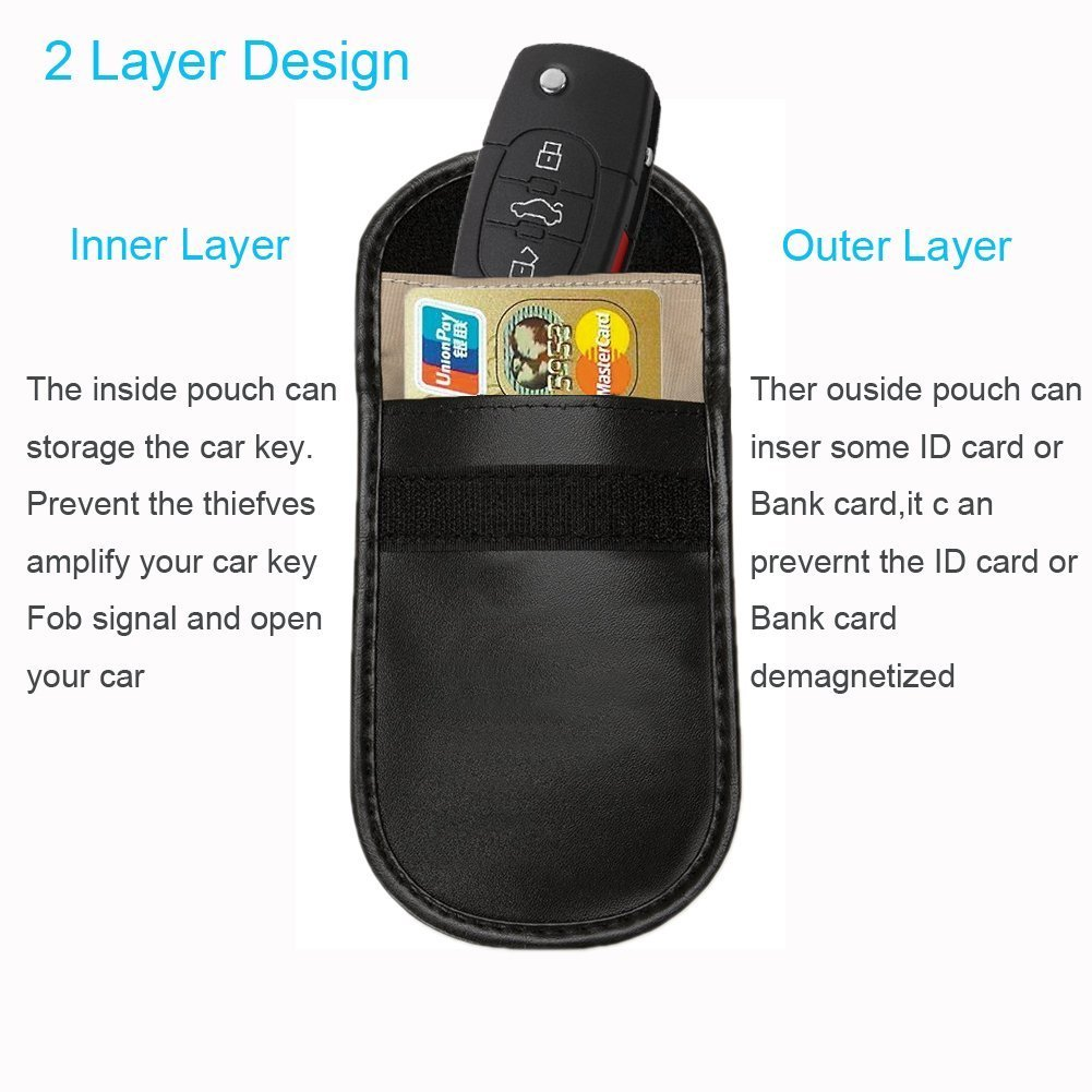 RFID Blocking Sleeves Goodea Car Key Signal Blocker Cases Keyless Remotes Control Credit Card Protector