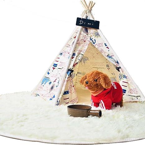 shanzhizui Tienda de gato Perros y gatos pequeños y medianos Sala de juguetes Almohadilla para mascotas