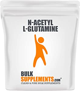 BulkSupplements.com N-Acetyl L-Glutamine Powder - Amino Acid Nutritional Supplements - Recovery Supplements Post Workout (250 Grams)