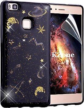 OKZone Funda Huawei P9 Lite, [Serie Noche Estrellada] Cárcasa Brilla Glitter Brillante TPU Silicona Teléfono Smartphone Funda Móvil Case [Protección a Pantalla y Cámara] para Huawei P9 Lite: Amazon.es: Electrónica