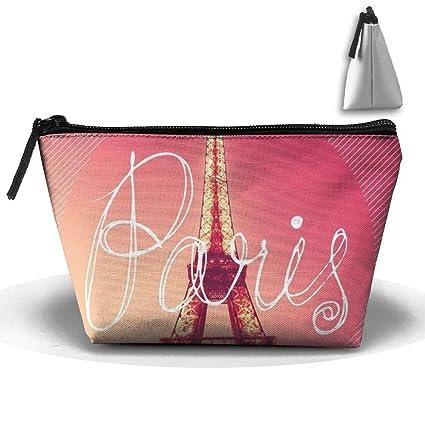 8e955bba17a4 Amazon.com: NT1UNW Trapezoid Cosmetic Bags Brush Pouch Paris Eiffel ...