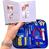"EZTool Watch Repair Tool Kit & Jaxa Wrench: Plus 41-Page Watchmaker's ""Maintenance & Service"" Manual"