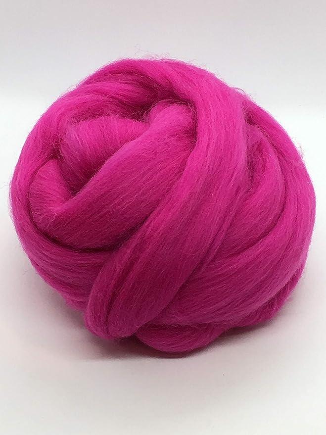 Handpainted 5050 Merino Tencel Wool Roving MALIBU Spinning Fiber 4 oz