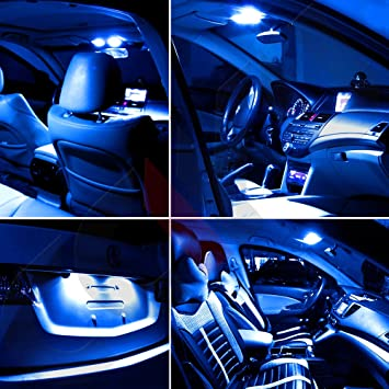 Ocpty 8 Pack Ice Blue Accessories Replacement Package Kit Replacement Fit For 2011 2014 Dodge Charger Led Bulb Led Interior Lights