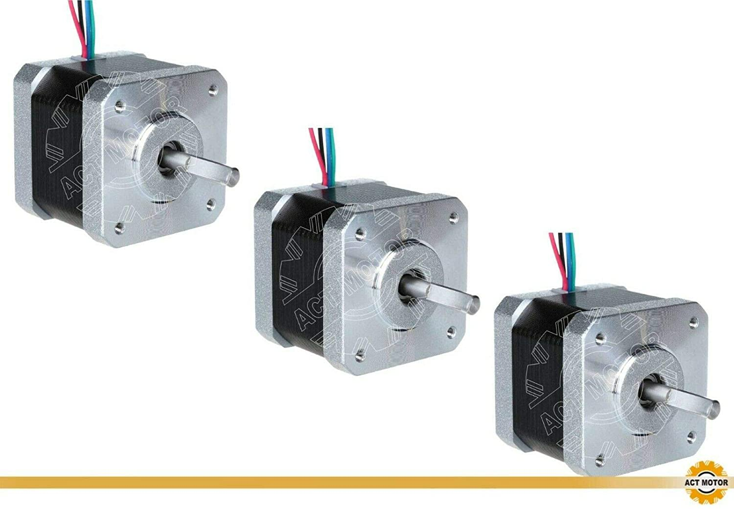 DE-SHIP Free 17HS4417P1 D-Shaft Nema17 Stepper Motor Bipolar 40 mm ...
