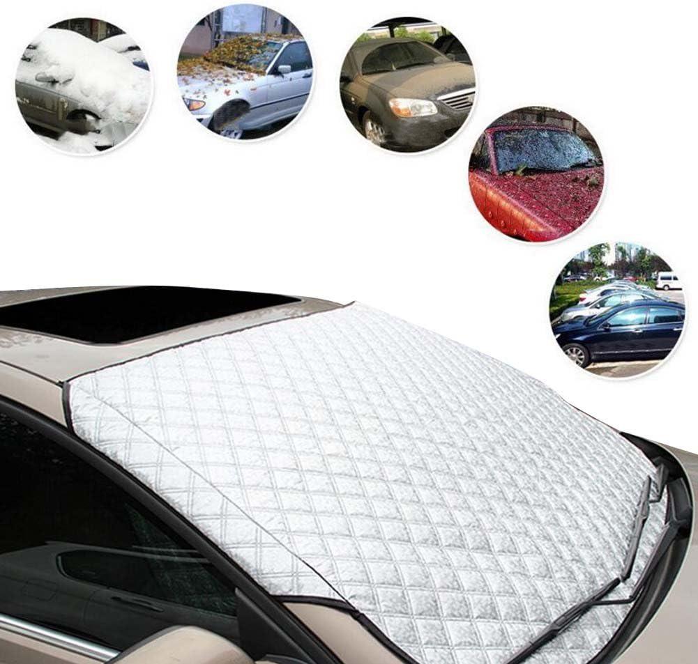 187 * 95cm LeRan Parabrezza per Auto Parapioggia Invernale Impermeabile per linverno Pieghevole Universale Pellicola di Protezione per Alluminio Schermata Parasole Mantenitore