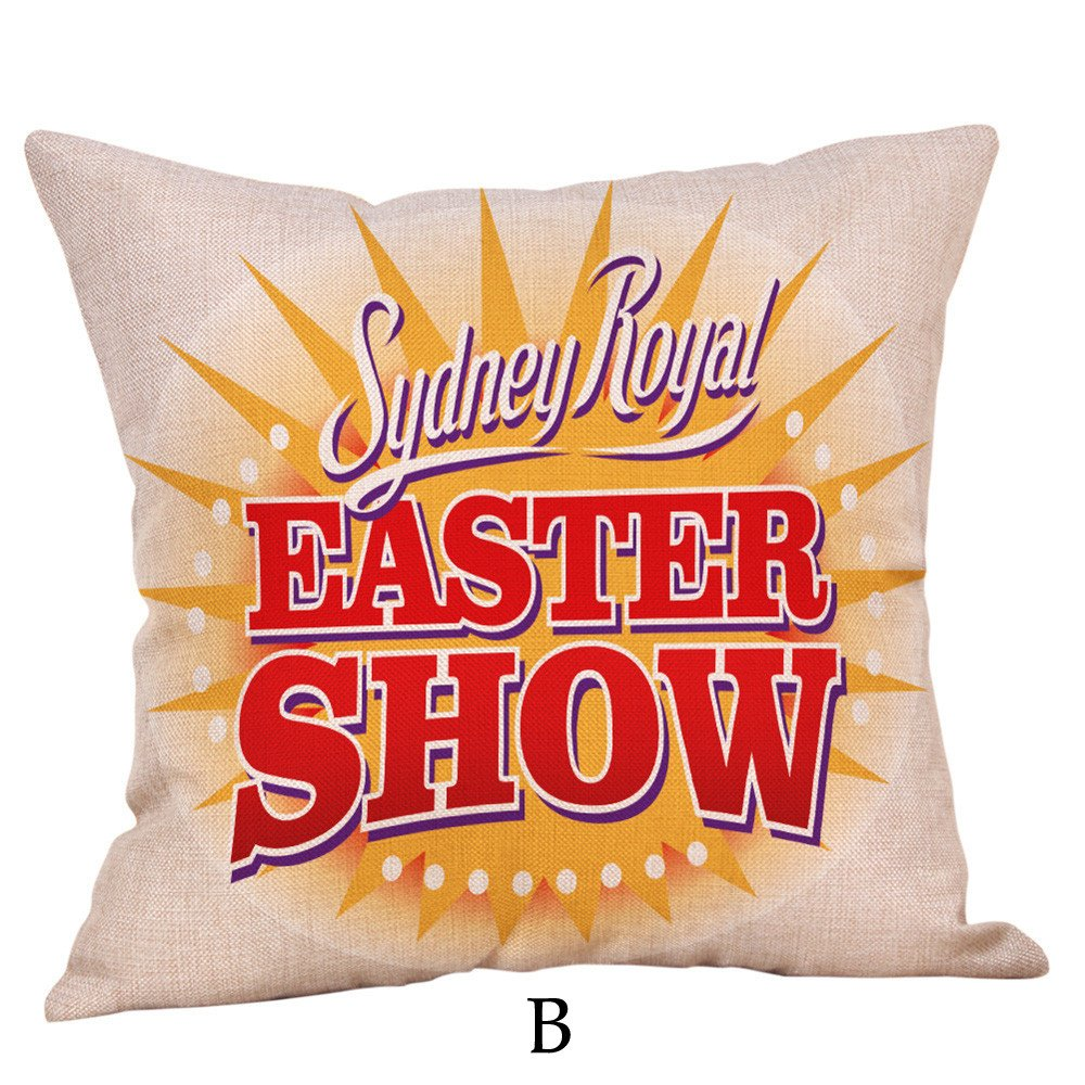 Anime Body Pillow Caseclearance Sale,Throw Pillow Case,Happy Easter Pillow Cases Linen Sofa Cushion Cover Home Decor Pillow Case