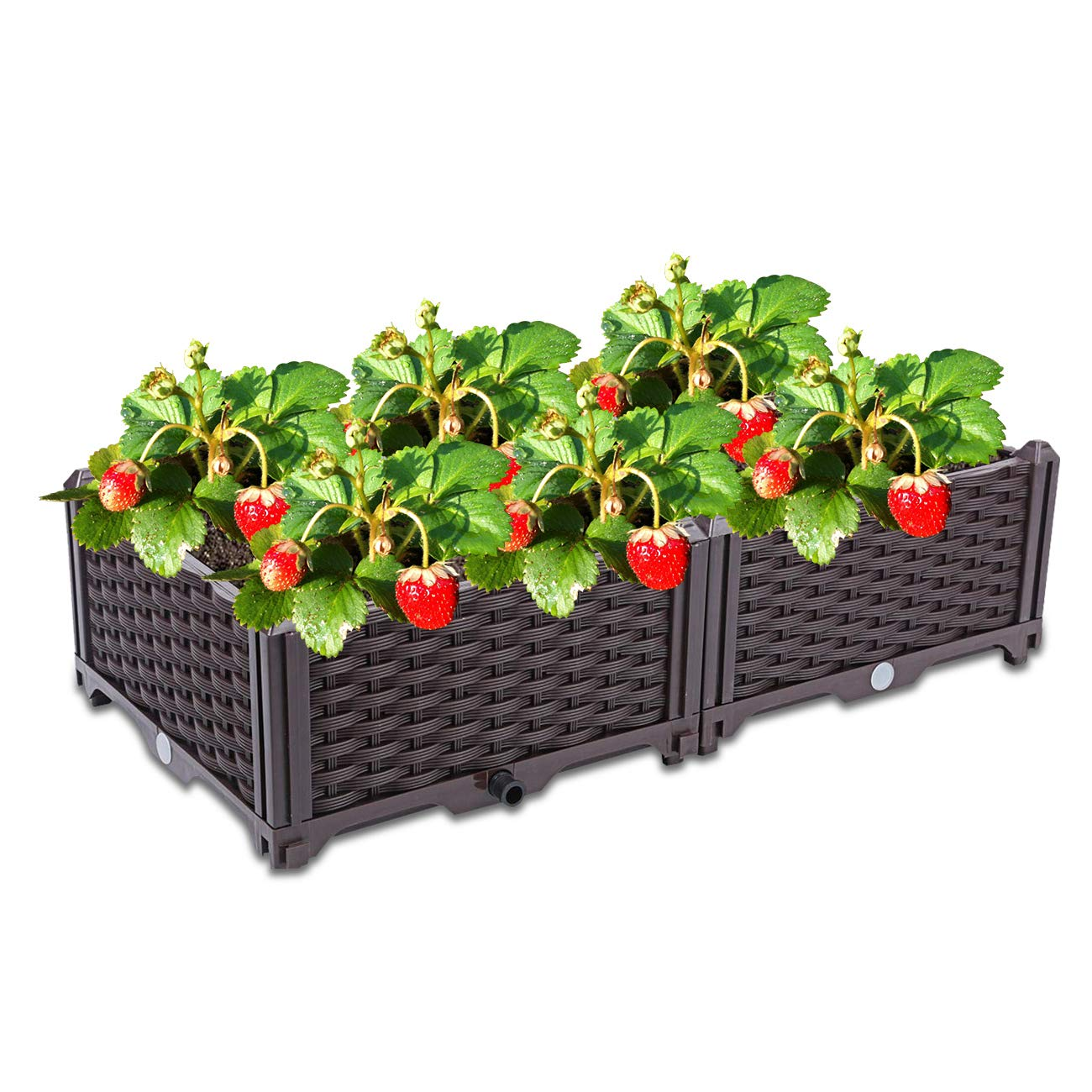 Dyna-Living Raised Garden Bed Plastic Planter Raised Bed Kit for Flower Vegetable Grow Indoor Outdoor Patio Backyard Porch Home Garden Decoration Gift