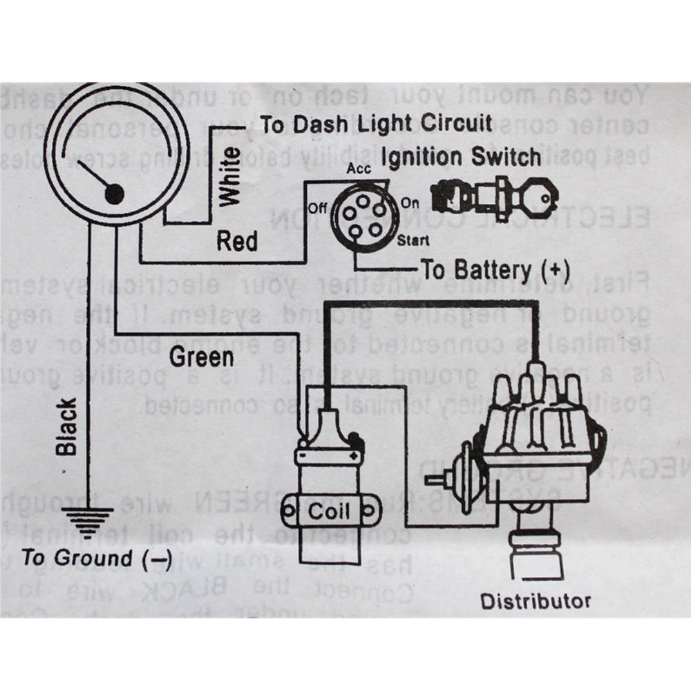 Discogoods 12v 375 Universal Car Gauge Tacho Led Rpm Meter Circuit Diagram For Automobiles Tachometer Counter Red Shift Light 4 6 8 Cyl Electronics