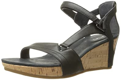 Teva Women's Capri Wedge Sandal, Pearlized Black, ...