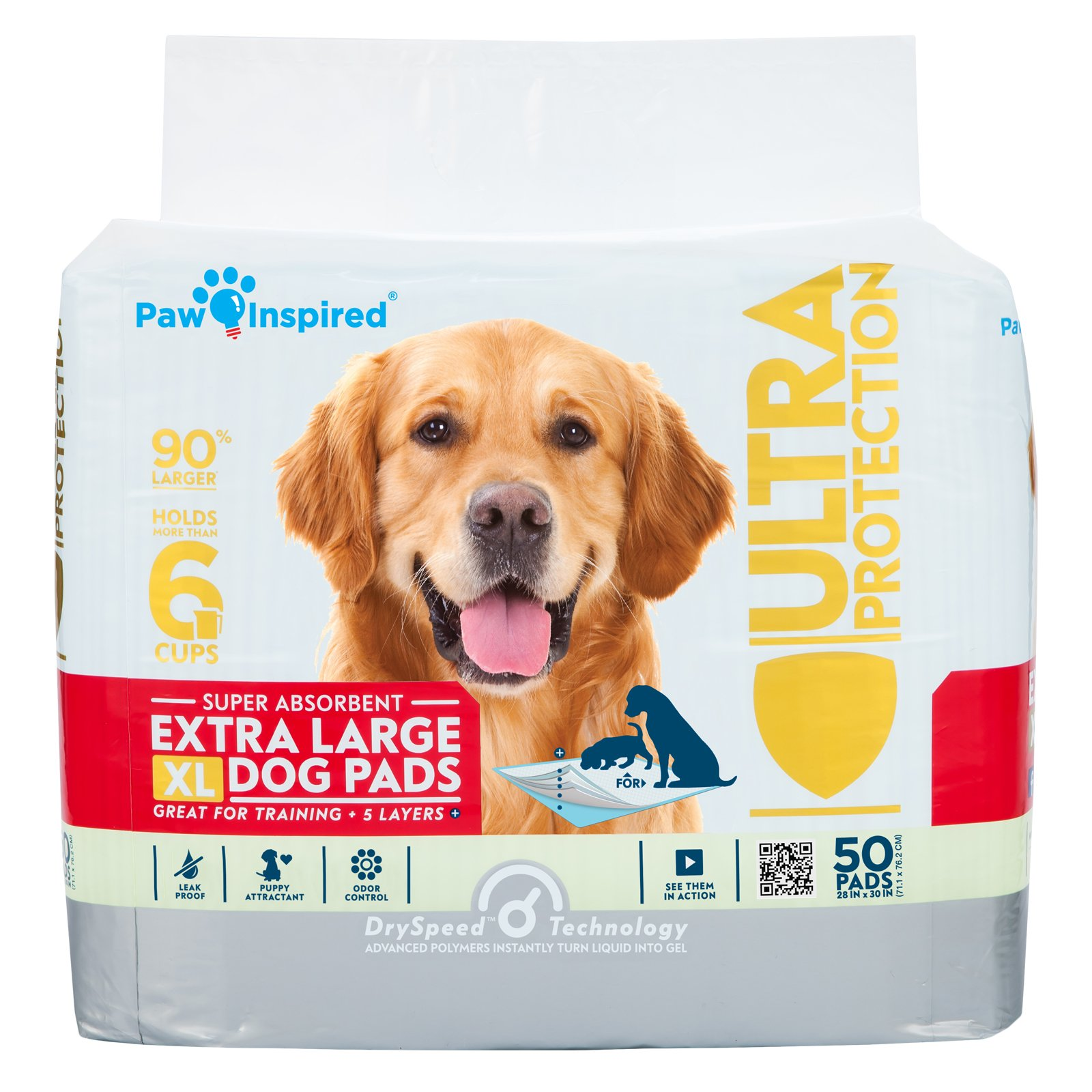 Paw Inspired Ultra Protection XL Extra Large Puppy Training Pads (Original XL Pads, 300 CT) by Paw Inspired (Image #2)