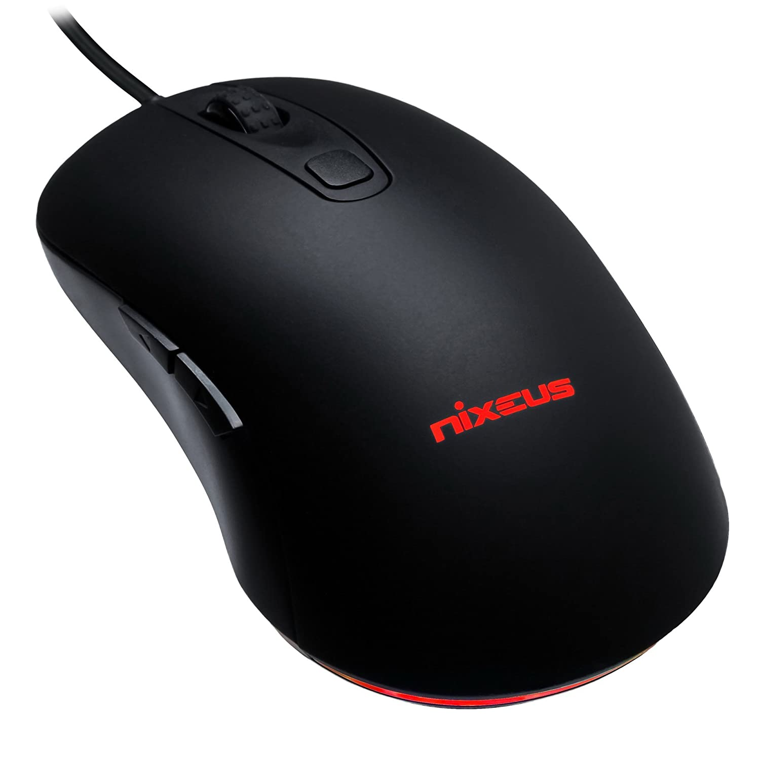 Nixeus Revel Gaming Mouse PMW 3360 for Windows Mac OS, Rubberized Black