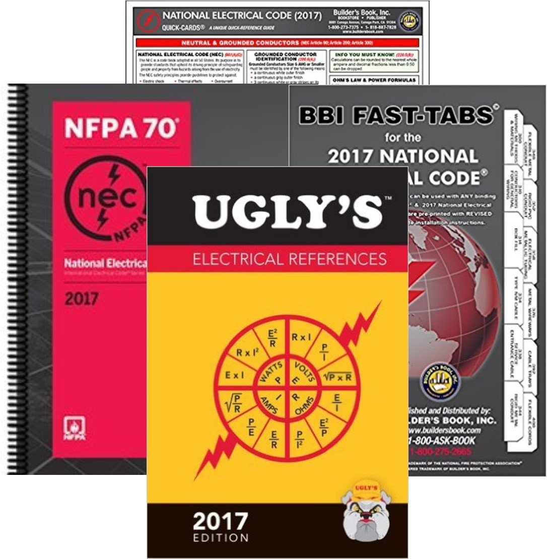 NFPA 70 2017: National Electrical Code (NEC) Spiralbound, Fast Tabs, Quick Card and Ugly's Electrical References, 2017 Editions, Package