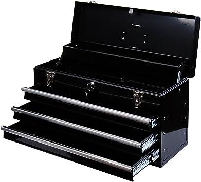 Caja de herramientas metálica con 3 cajones (medidas: 54 x 22 x 29 ...