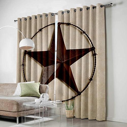 SODIKA Grommet Window Panel Curtain Set