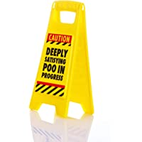 "Boxer ""Satisfying Poo Warning Sign, Plastic, Yellow"