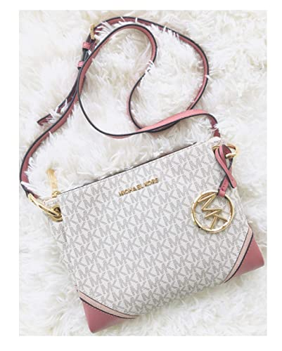 cb675e146b841e Michael Kors Nicole Triple Compartment Crossbody Bag Vanilla Signature:  Handbags: Amazon.com