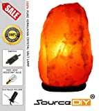 3-5 KG NATURAL PINK HIMALAYAN CRYSTAL ROCK SALT LAMP WITH BUTTON SWITCH AND BRITISH STANDARD ELECTRIC PLUG. 100 % PREMIUM AND FINE QUALITY SOURCEDIY®.