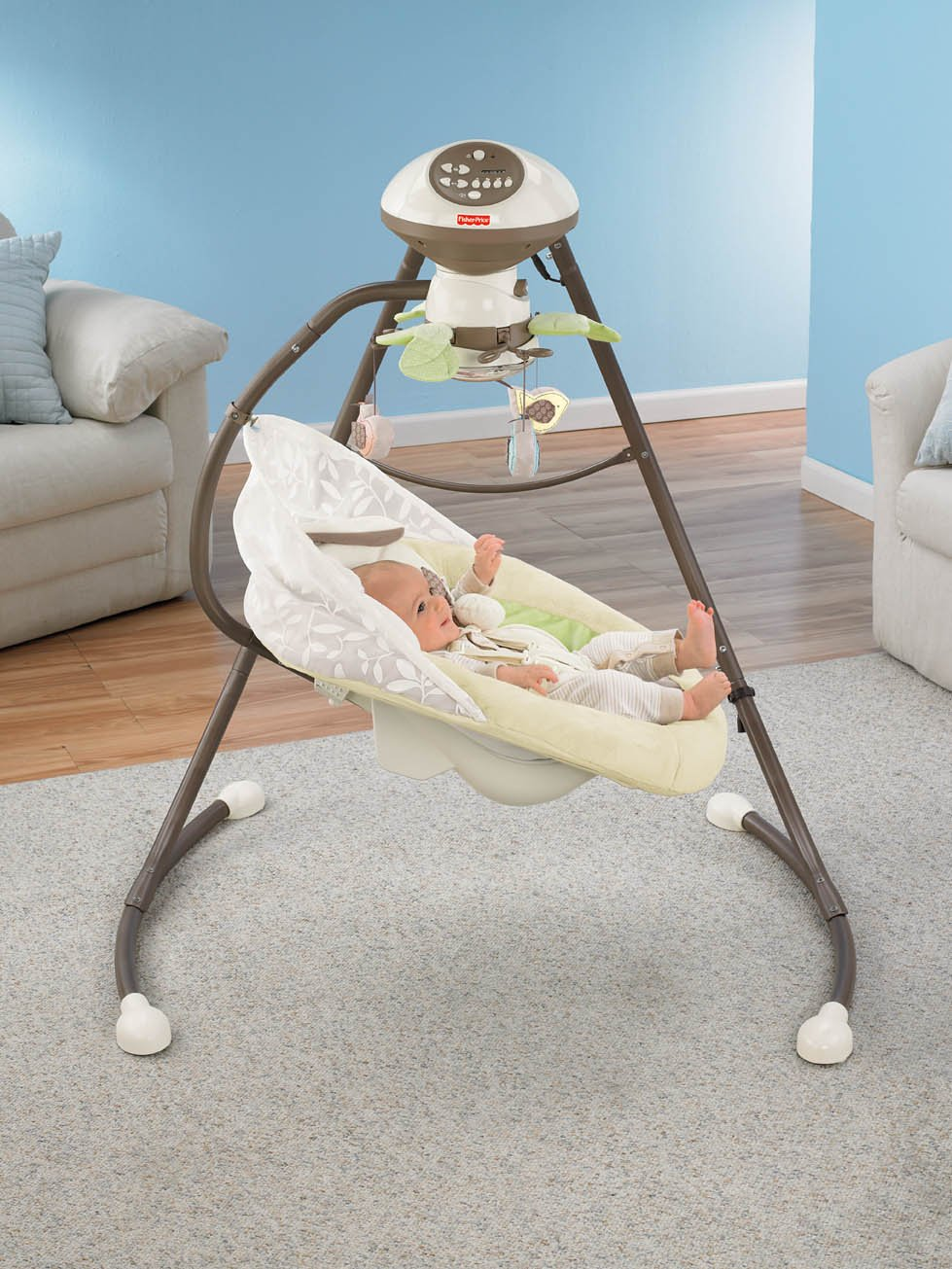Fisher-Price Snugabunny Cradle 'n Swing with Smart Swing Technology by Fisher-Price (Image #7)