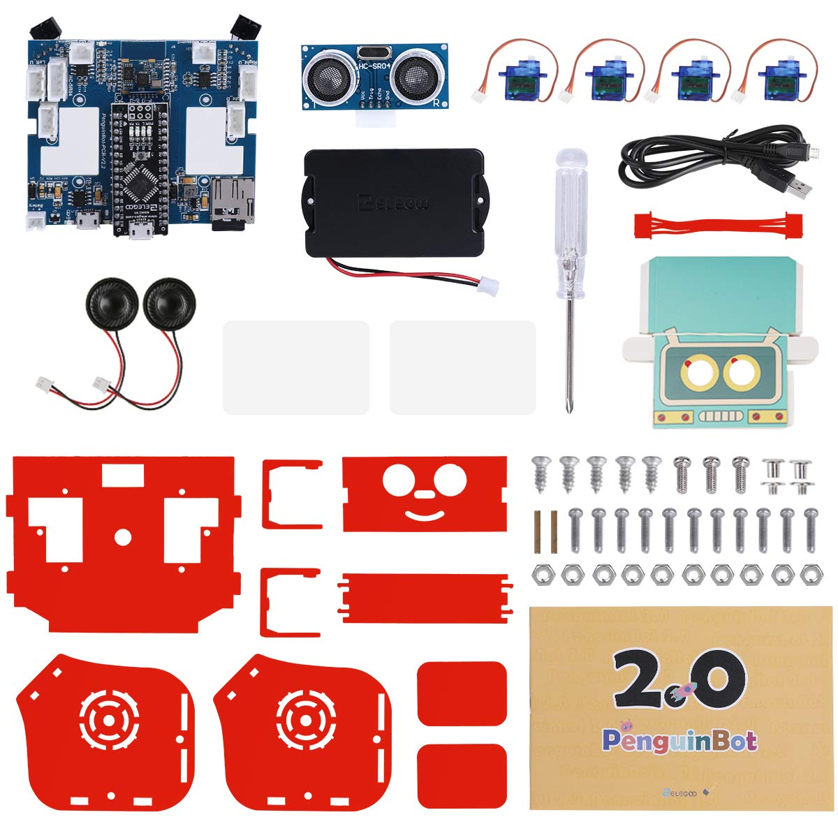 ELEGOO Penguin Bot Biped Robot Kit for Arduino Project with Assembling Tutorial,STEM Kit for Hobbyists, STEM Toys for Kids and Adults, Red Version by ELEGOO (Image #7)