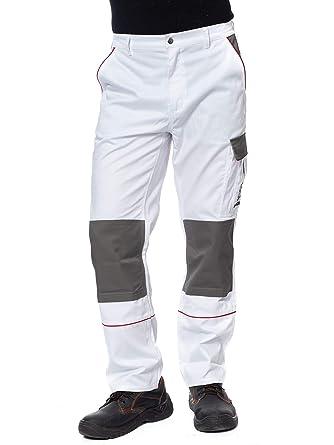 Proluxe Endurance da Uomo Cargo Combat Pantaloni da Lavoro con Tasche al Ginocchio e Cuciture rinforzate/ Blu Navy e Grigio /Disponibile in Nero