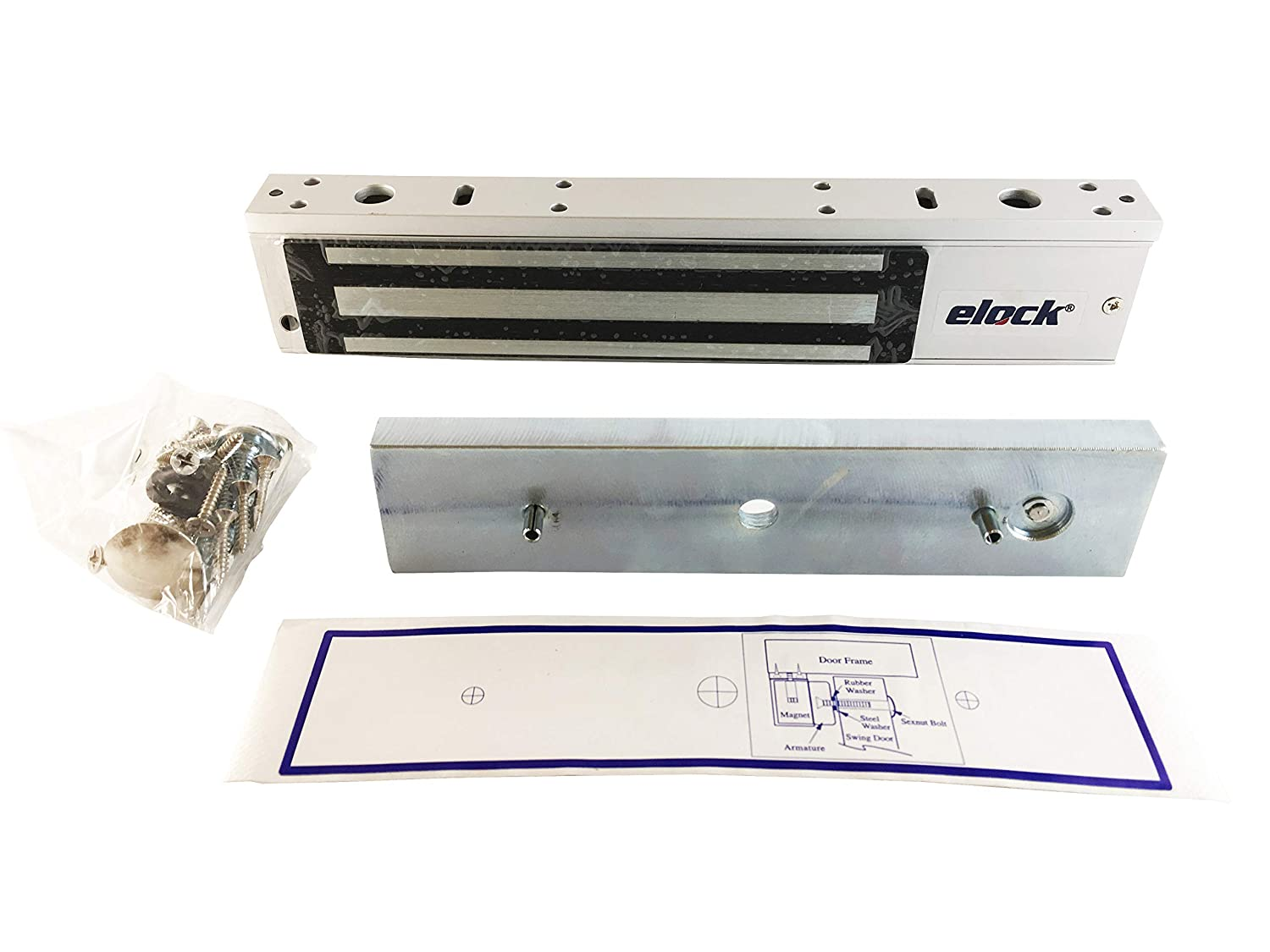 Elock 600lbs Electromagnetic Lock//Maglock with LED Sdn Bhd M 12//24 VDC,UL Certified Kyodensha Technologies
