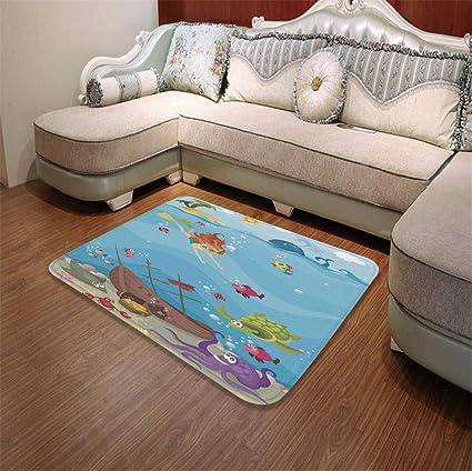 Amazon Com Yoliyana Bath Mat Kids Nautical For Dining