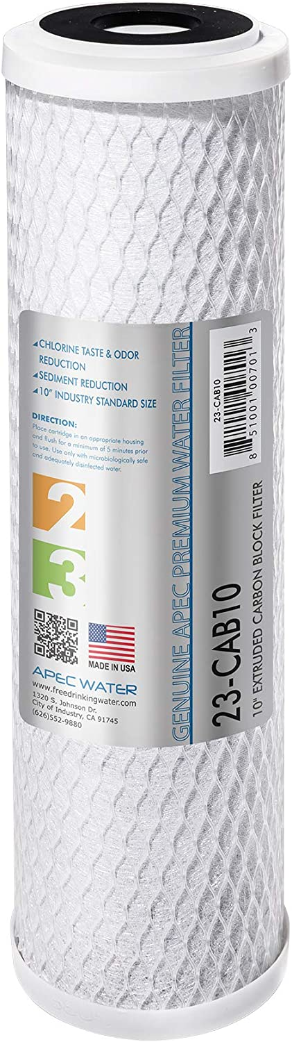 """APEC 23-CAB10 US MADE 10"""" x 2.5"""" Carbon Block Water Filter For Reverse Osmosis System"""
