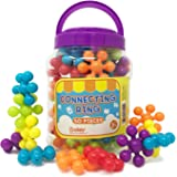 BOLEY 50-piece Educational Building Block Rings for Toddlers and Kids, Builder set comes with vibrant pieces and an easy storage bucket!