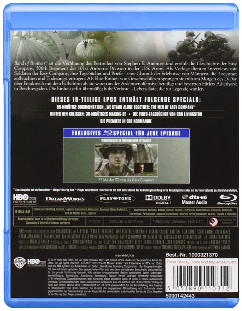 Band of Brothers - Wir waren wie .,: Amazon.co.uk: DVD & Blu-ray